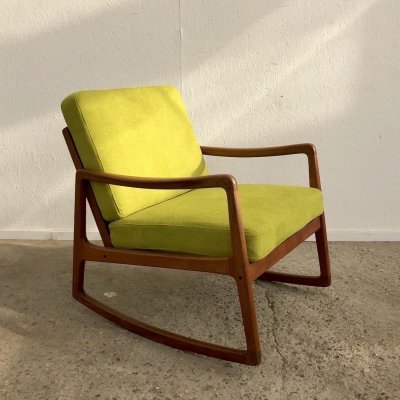 Rocking chair by Ole Wanscher for France & Søn, Denmark 1960s