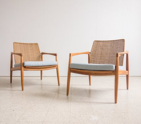 Pair of lounge chairs by Carl Straub, 1960s