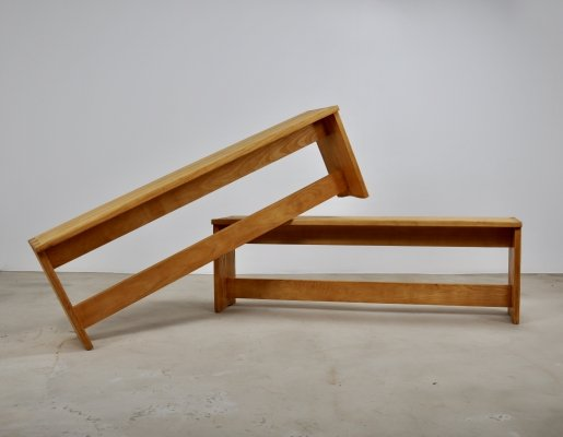Pair of benches, 1960s