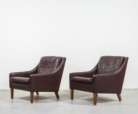 Set of two leather armchairs by Georg Thams, 1970's