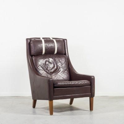 Georg Thams high back leather armchair