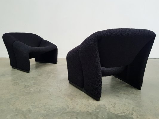 Set of 2 1st edition Groovy chairs by Pierre Paulin for Artifort, 1960s