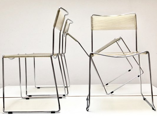 Set of four Spaghetti chairs by Giandomenico Belotti for Alias, 1970s