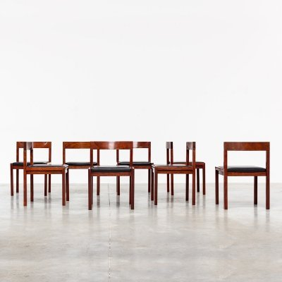 Alfred Hendrickx for Belform set of 8 dining chairs, 1970s