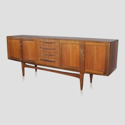 Vintage teak mid century Scandinavian style sideboard by VB Wilkins for G-PLAN