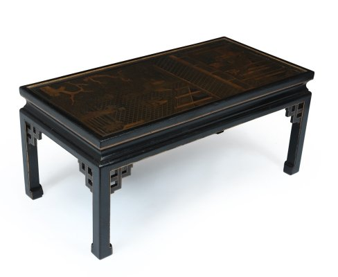 Lacquered & Gilt Chinoiserie Coffee Table, c1920