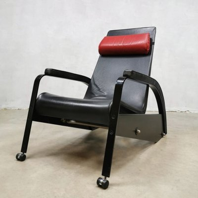 Vintage Jean Prouvé 'Grand Repos' D80-1 chair by Tecta, 1980s