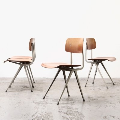 Set of 4 Result (1st edition) Chairs by Friso Kramer for Ahrend de Cirkel, 1958