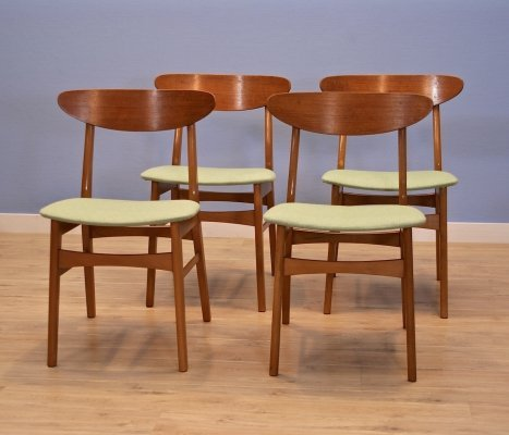 Set of 4 Danish dining chairs in teak by Falsled Møbelfabrik, 1960s