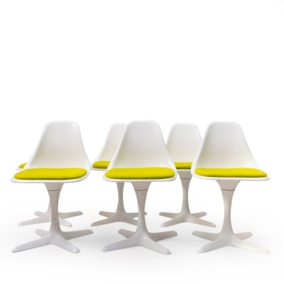 Set of 6 Model No. 106 Chairs by Maurice Burke for Arkana, 1970s