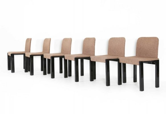 Set of 6 Marco Zanuso dining chairs, 1970s