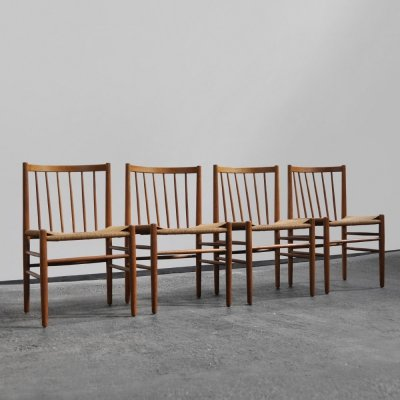 4 dining chairs by Jørgen Baekmark for FDB Møbler, Denmark 1950s