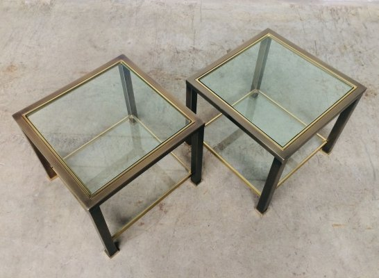 Set of 2 Side Tables by Belgo Chrom, 1980's