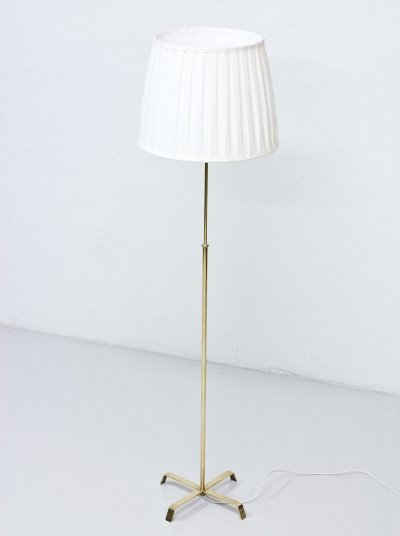 Swedish 1940s Floor Lamp in Brass by Böhlmarks