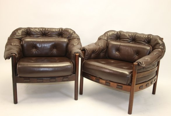 Pair of rosewood armchairs by Sven Ellekaer