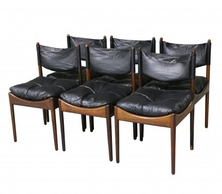 Set of 6 Kristian Vedel chairs in rosewood, 1960s
