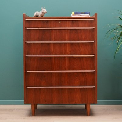 Vintage Scandinavian design chest of drawers in teak, 1970s