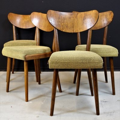 Set of 4 Dining chairs, Czech Republic 1960s