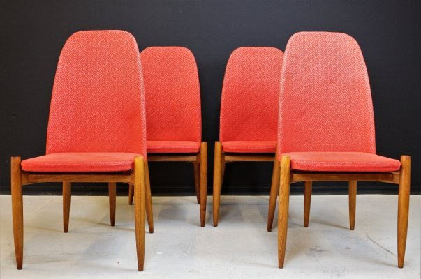 Set of 4 Dining chairs from the Czech Republic, 1960s