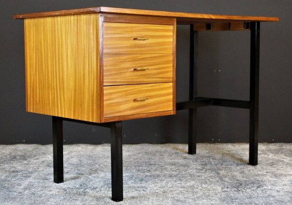 Vintage writing desk with drawers, 1960s
