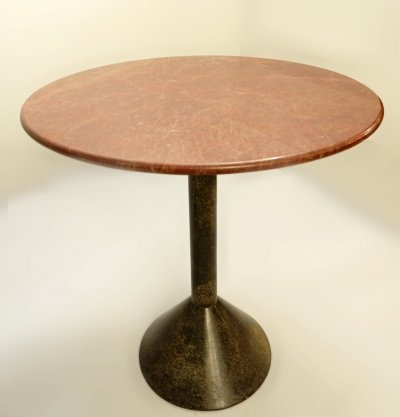 Italian Granite And Marble Round Dining Table, 1980s