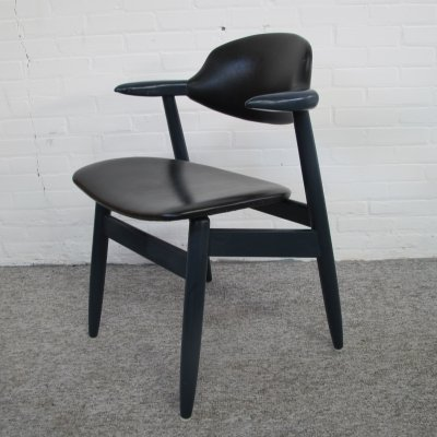 Vintage Cow Horn Dining Chair by Tijsseling for Hulmefa, 1960s