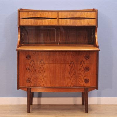Danish secretary in teak by Gunnar Falsig for Holstebro Møbelfabrik, 1960s