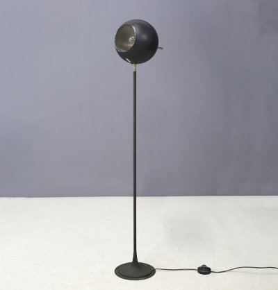 Black Model 1082 Gino Sarfatti Floor Lamp for Arteluce, 1950s