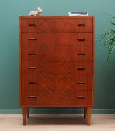 Vintage chest of drawers in teak, 1970s