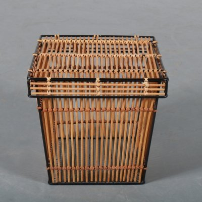 Rattan basket by Rohé, the Netherlands 1950s