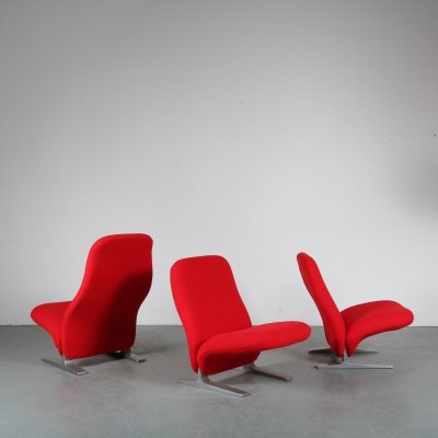 'Concorde' lounge chairs by Pierre Paulin for Artifort, 1970