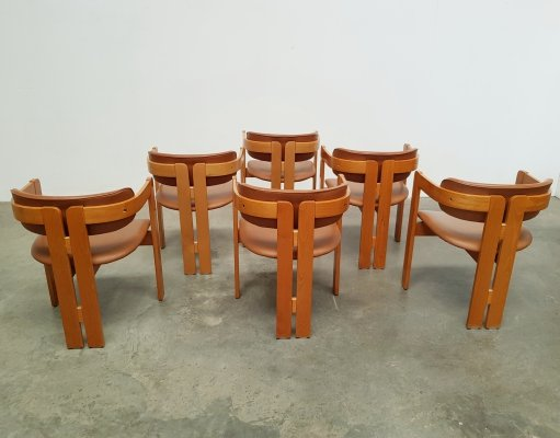 Set of 6 Pigreco dining chairs by Tobia Scarpa for Gavina, 1970s