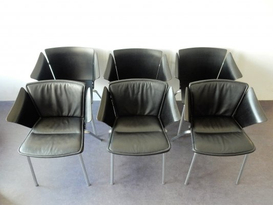Set of 6 model 'VM3' Vico armchairs by Vico Magistretti for Fritz Hansen, 1990's