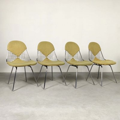 Set of 4 DKR Bikini Chairs by Charles & Ray Eames, 1950s