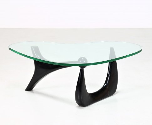 Original Isamu Noguchi MidCentury Coffee table in ebony & glass, 1950