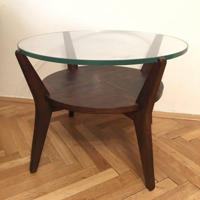 Round Coffee Table by Karel Kozelka & Antonin Kropacek, 1940s