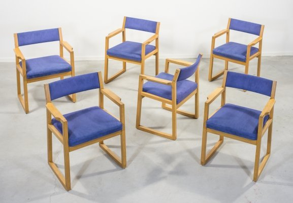 Set of 6 Danish armchairs by Schou Andersen