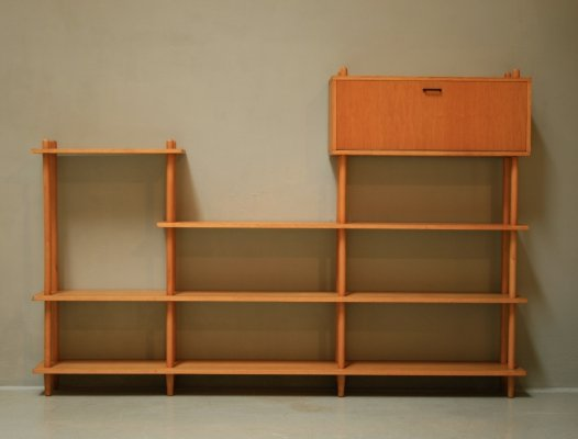Wall unit by Wilhelm Lutjens for C. den Boer, 1960s