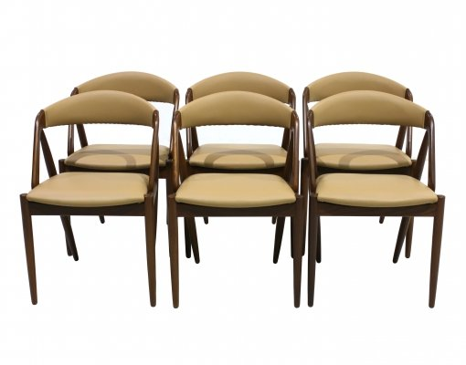 Set of 6 Dining chairs by Kai Kristiansen, 1960s