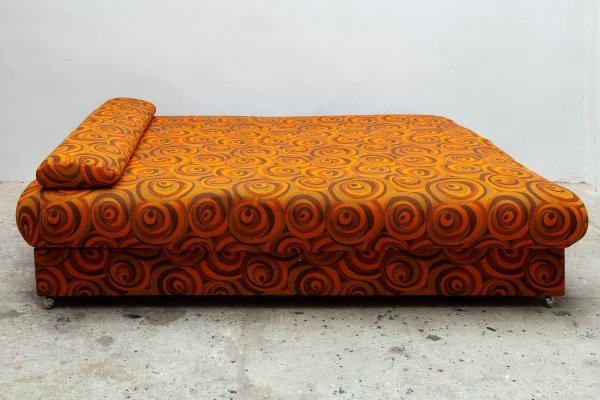 Full-Size Pop Art Bed / Daybed with Storage, Germany 1960s