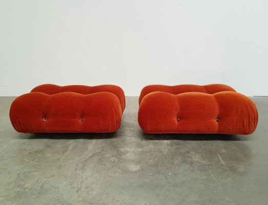 Set of 2 Camaleonda ottomans by Mario Bellini for B&B Italia, 1970s