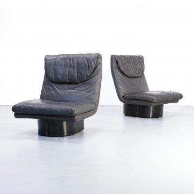 Pair of Ammannati & Vitelli lounge chairs for Comfort, 1970s