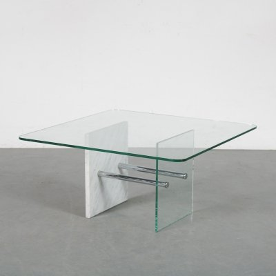 Unique geometric coffee table by Saporiti, Italy 1970s
