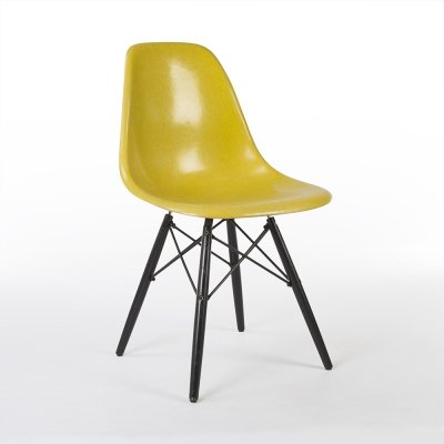 Brilliant Yellow Herman Miller Original Eames DSW Dining Side Chair