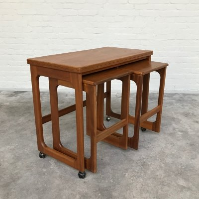 Teak Nesting Tables by Mcintosh, Scotland 1960s