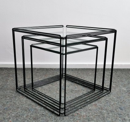 Max Sauze Isocele Nesting Tables, 1970s