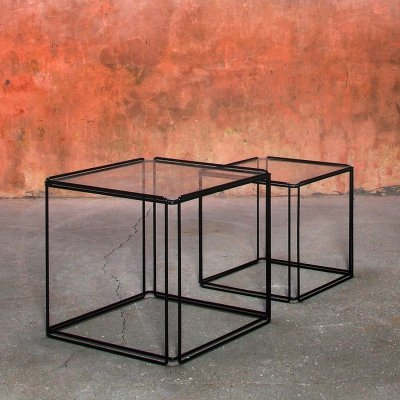 Pair of Max Sauze Isocele Nesting Side Tables, 1970s