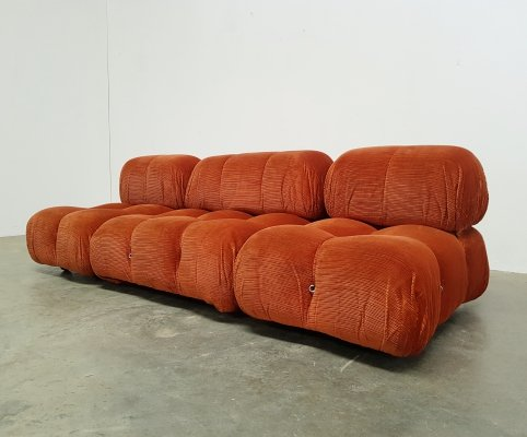 Camaleonda sofa by Mario Bellini for B&B Italia in original fabric, 1970s