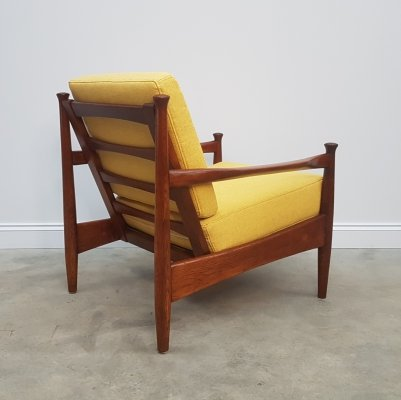 1960's German Lounger Club Chair in Yellow