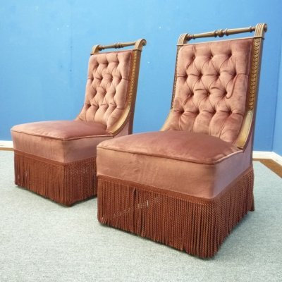 Pair of Club Chairs, 1930s